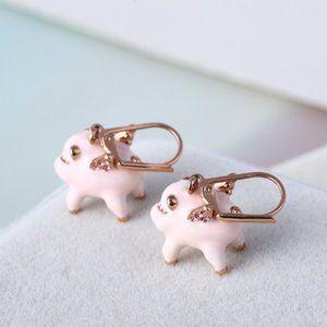 Kate Spade Pink Flying Pig Earrings
